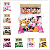 DISNEY Mickey Mouse Bedding Set Duvet Cover Sets Single Double Queen King Size Comforter Bedding Sets