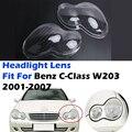 Прозрачный Абажур для передней фары, подходит для Mercedes Benz C-Class 2001-2007 W203, защитные линзы для передней фары, автомобильные аксессуары