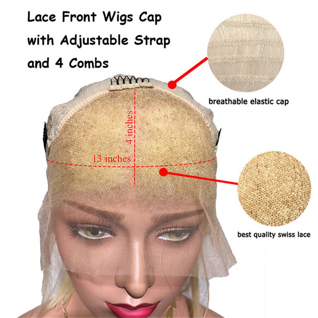 #4/613 Pre Plucked Lace Front Human Hair Wigs Straight Ombre Honey Blonde Lace Front Wigs Colored Peruvian Wig with Baby Hair 5