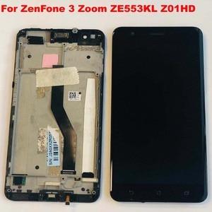 Image 3 - Original test Für Asus ZenFone 3 Zoom ZE553KL Z01HD LCD Display Touchscreen Digitizer Montage Mit Rahmen Für Asus ZE553KL LCD