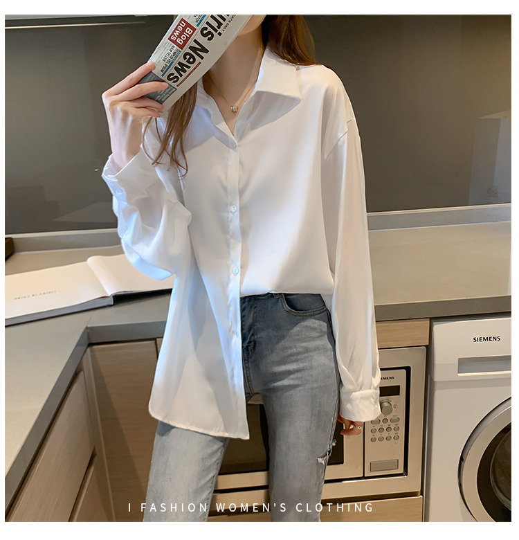 Loose Women Blouses Korean Style Fahion Woman Shirts Ladies Tops Button Up Casual Oversized Long Sleeve Shirt Plus Size Blusas