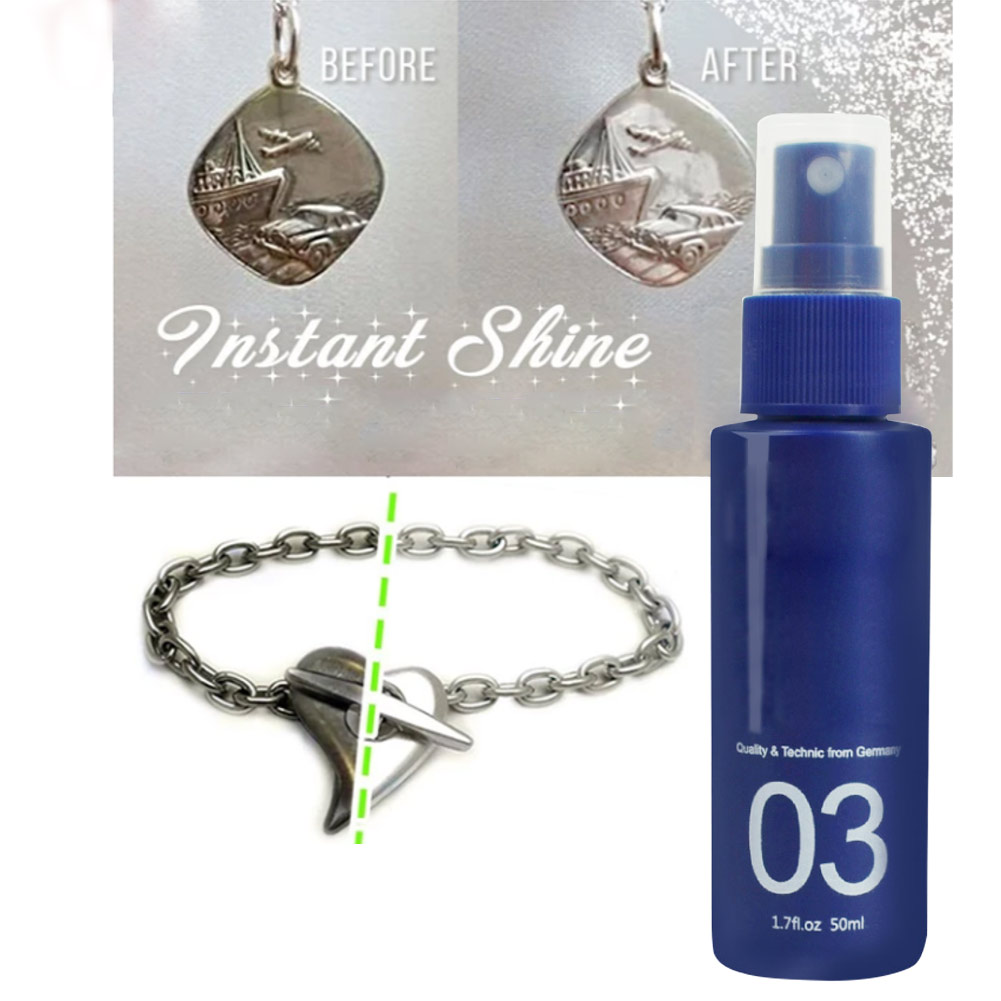 Instant Shine Jewelry Cleaner Spray Agent Tool CX17