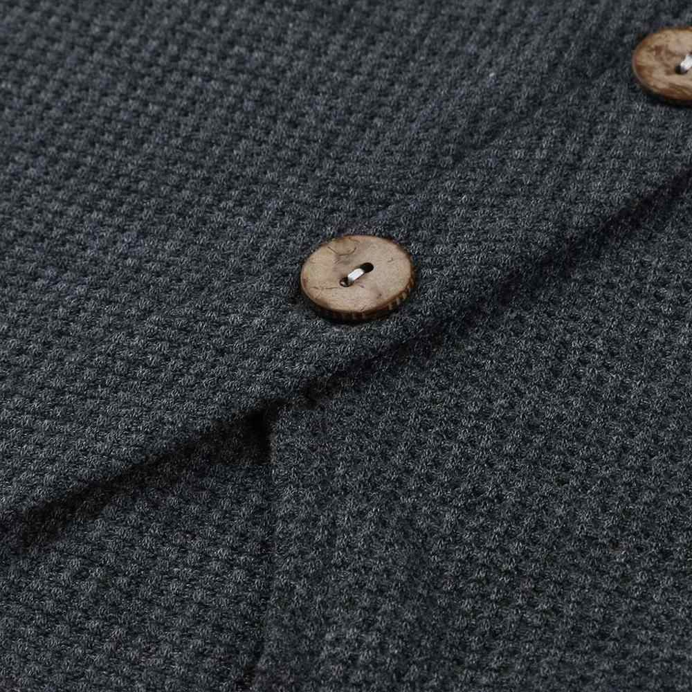 Suéter mujer Invierno Caliente empalme raya Botón de manga larga cuello de capucha suéter de punto señora Jersey Tops pull Hiver femme
