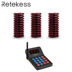 نظام الاتصال بالطابور اللاسلكي للمطاعم من RETEKESS مزود بقنوات 999 ، نظام الاتصال بالطابور ، لمتجر المقهى ، معدات المطاعم والكنيسة