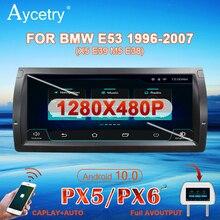 PX6 10.25 ips車ラジオ1 dinアンドロイド10マルチメディアプレーヤーautoradio bmw/E39/X5/e53ステレオナビゲーションgps 4グラムなし2 din dvd
