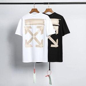 2020 Off white T-Shirt - brand cotton Short Sleeve Sweatshirt funny Cool Tops Tee Shirt summer men's t shirt