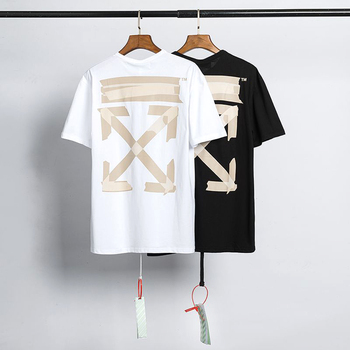 2020 Off White T-Shirt - Brand Cotton Short Sleeve Sweatshirt Funny Cool Tops Tee Shirt Summer Men's T Shirt