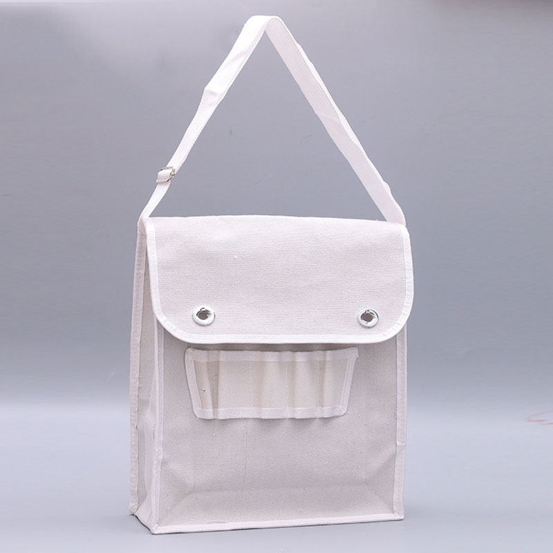 Portable Hardware Repair Kit Multi-function Shoulder Electrician Tool Bag Practical White Large Hardware Service Tool Storage