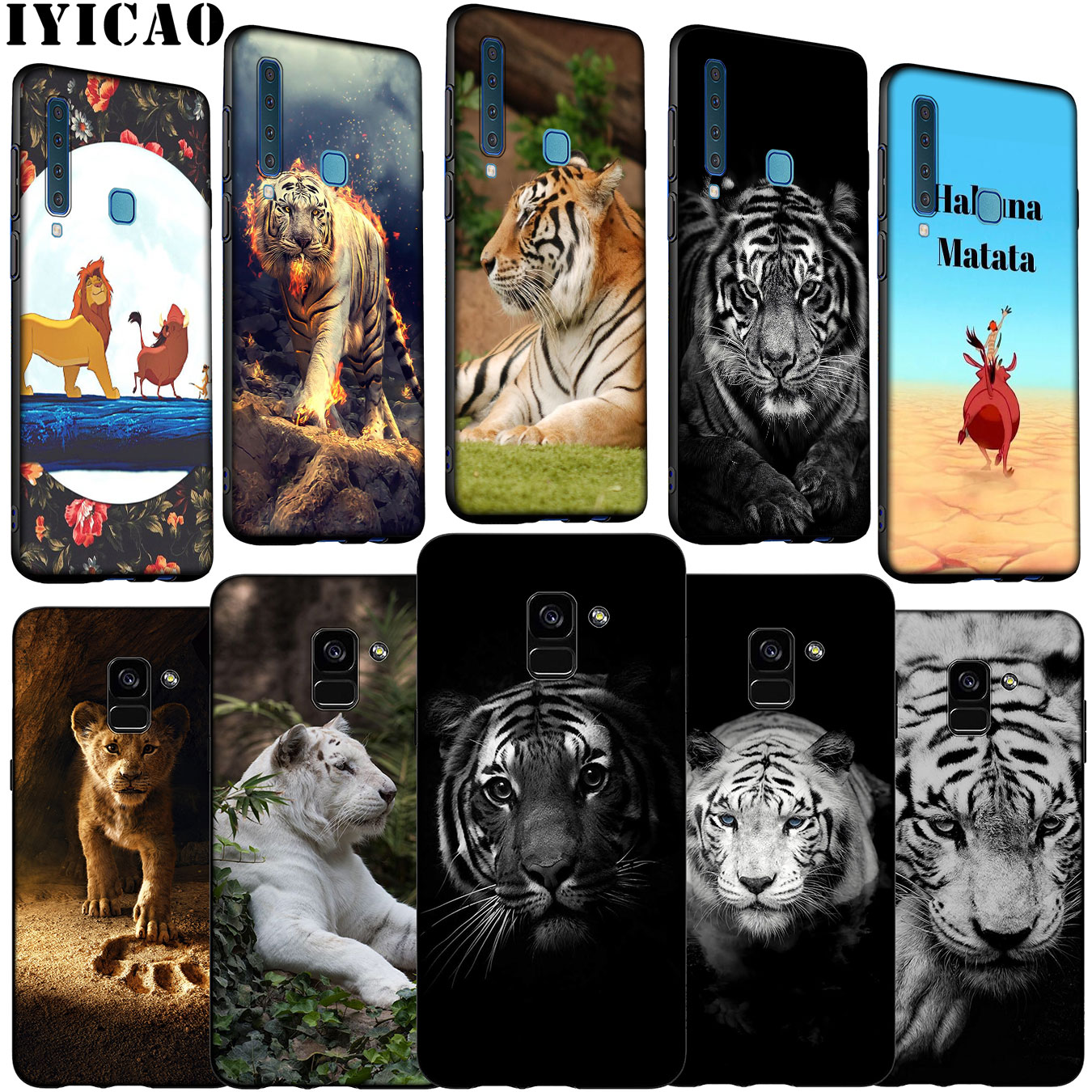 2020 Official Aimee Stewart Yellow Tiger Animals Leather Book Wallet Case Cover Compatible For Samsung Galaxy A11