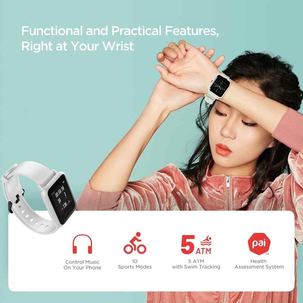 במלאי 2020 הגלובלי Amazfit ביפ S Smartwatch 5ATM waterproof נבנה GPS GLONASS Bluetooth חכם שעון עבור אנדרואיד iOS טלפון