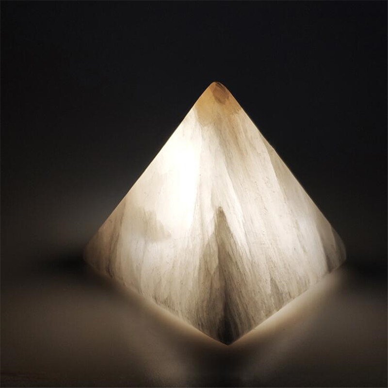 Pyramid Gypsum Stone Night Light Romantic Creative Atmosphere Lampara Table Lamp Dormitory Girls Gift Home Decor Relieve Fatigue|LED Night Lights| |  -
