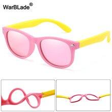 Warblade nova polarizada crianças óculos de sol moda meninos meninas crianças silicone uv400 eyewear do bebê tons de sol