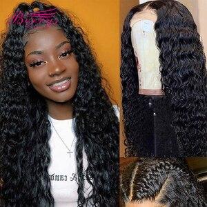Image 1 - Lockiges Menschliches Haar Perücken Pre Gezupft Mit Baby Haar 13x4 Spitze Front Menschliches Haar Perücken Für Schwarze Frauen pre Gezupft Transparent Spitze