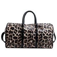 Fashion Leopard Print Women Travel Bag Leather Travelling Bags And Carry Luggage For Women Duffle Tote Bags Waterproof Handbag