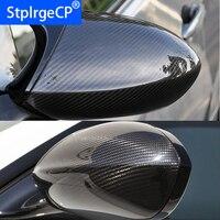 Alta qualidade para bmw e90 e92 e93 m3 e82 1m 2008- 2013 100% real visão traseira de fibra de carbono tampa de espelho lateral do carro