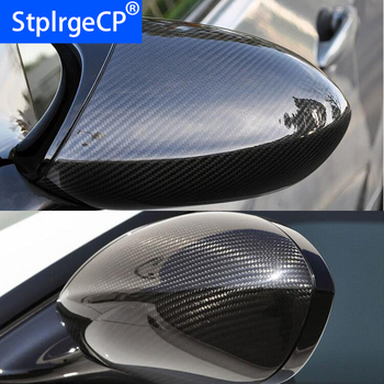 High quality For BMW E90 E92 E93 M3 E82 1M 2008- 2013 100% Real Carbon Fiber Rear View Mirror Cover Side Mirror Caps car styling image