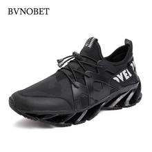 BVNOBET Ultra Light Black Sneakers Large Size Breathable Casual Shoes For Men Rebound Non-Slip Sport Deportivas Hombre