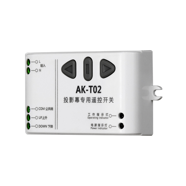 Mới T02 AC110V 220V 240V Thông Minh Kỹ Thuật Số RF Không Dây Điều Khiển Từ Xa Hệ Thống Màn Hình Chiếu Máy Thu
