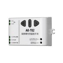 ใหม่T02 AC110V 220V 240VอัจฉริยะดิจิตอลระบบRF Wireless Remote Control Switchสำหรับหน้าจอโปรเจคเตอร์เครื่องรับ