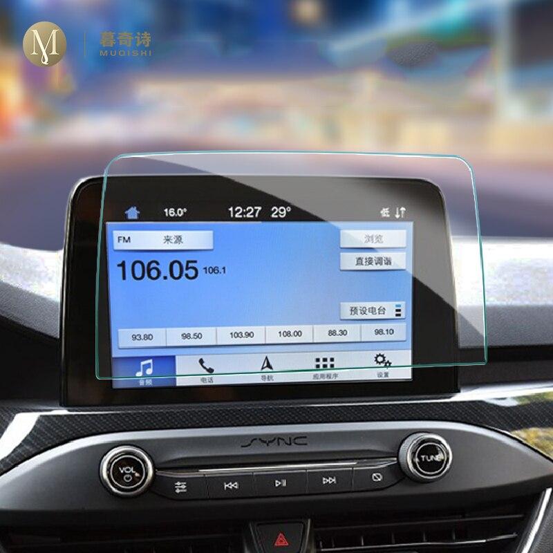 Для Ford focus 2019 2020 Автомобильная GPS-навигационная пленка ЖК-экран Защитная пленка из закаленного стекла пленка против царапин аксессуары уста...