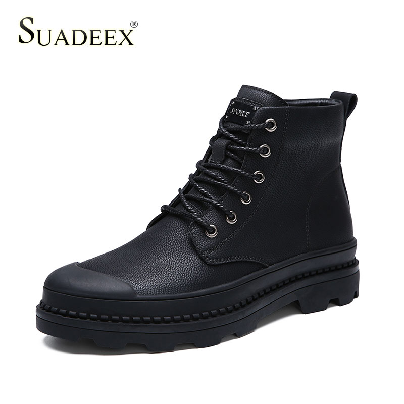 SUADEEX Mens Shoes Tactical Military Boots Outdoor Working Waterproof Combat Desert Female Motorcycle Footwears