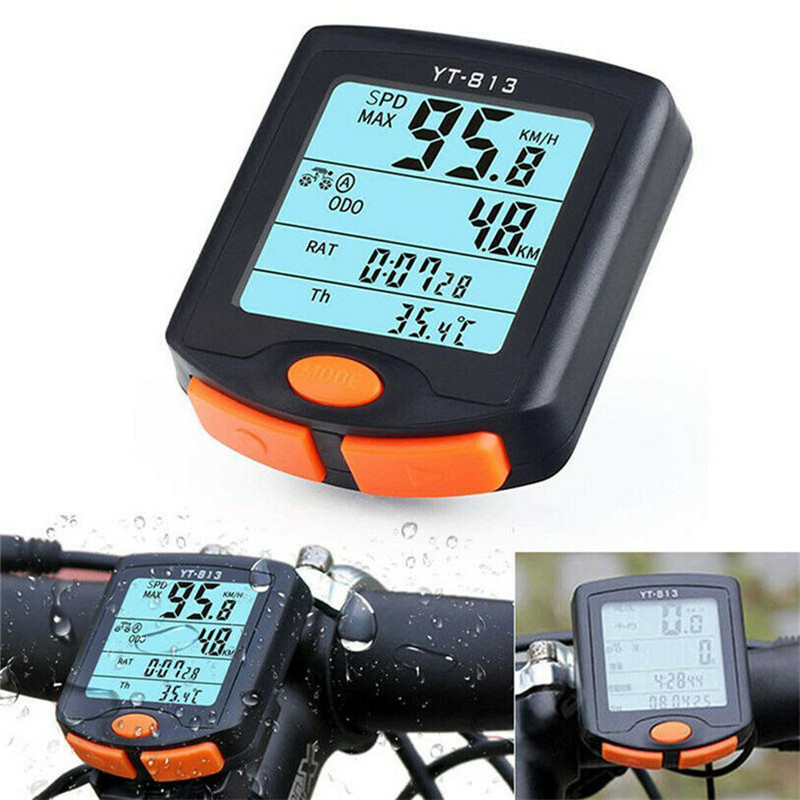 <font><b>Bike</b></font> <font><b>Speed</b></font> <font><b>Meter</b></font> Digital <font><b>Bike</b></font> Computer Multifunction Waterproof Sports Sensors Bicycle Computer Backlight Cycling Speedometer image