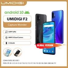 "Umidigi F2 Telefoon Android 10 Global Versie 6.53 ""Fhd + 6Gb 128Gb 48MP Ai Quad Camera 32MP selfie Helio P70 Mobiel 5150Mah Nfc"