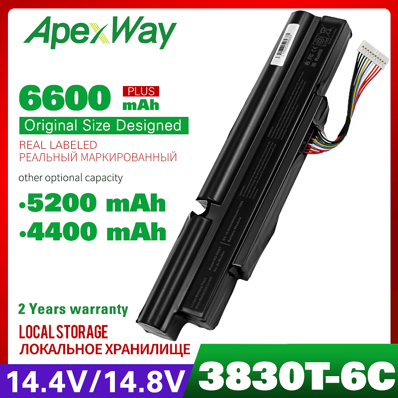 Apexway 4400mAh Laptop Battery for Aspire TimelineX 3830T 3830TG 4830T 4830TG 5830T 5830TG for ACER A3INR18/65-2 <font><b>AS11A3E</b></font> AS11A image