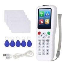 RFID ناسخة NFC قارئ بطاقات الكاتب الناسخ شبيه 125KHz 13.56 ميدالية مفاتيح RFID مبرمج T5577 UID إعادة الكتابة مفتاح بطاقات USB