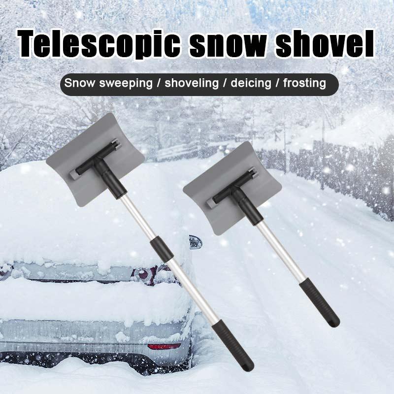 100% True Car Ice Scraper Telescopic Handle Car Snow Ice Scraper Snow Brush Shovel Winter Auto Window Snow Removal Tool Car Cleaning Brush