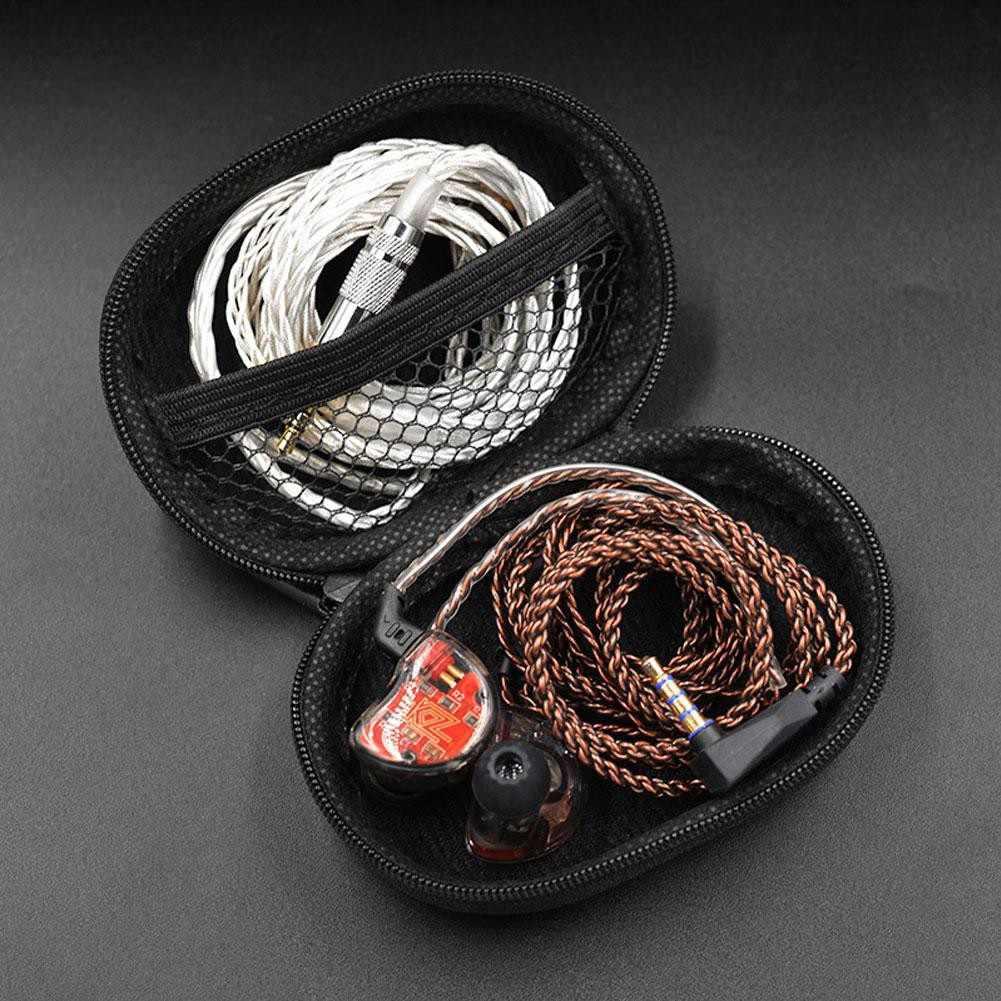 KZ przenośny wodoodporna Faux skórzane słuchawki torba do przechowywania kabli Case organizator
