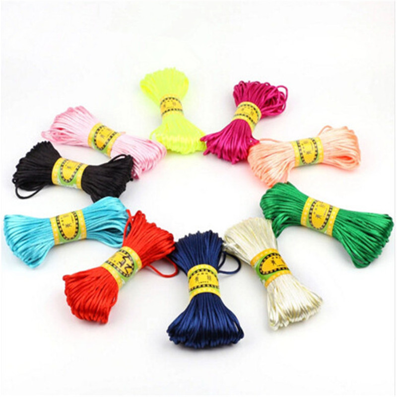 20M/Lot Satin Cords DIY String Cord Nylon Rope Accessary&Findings For Baby Silicone Teething Bead Necklace Jewelry Cord