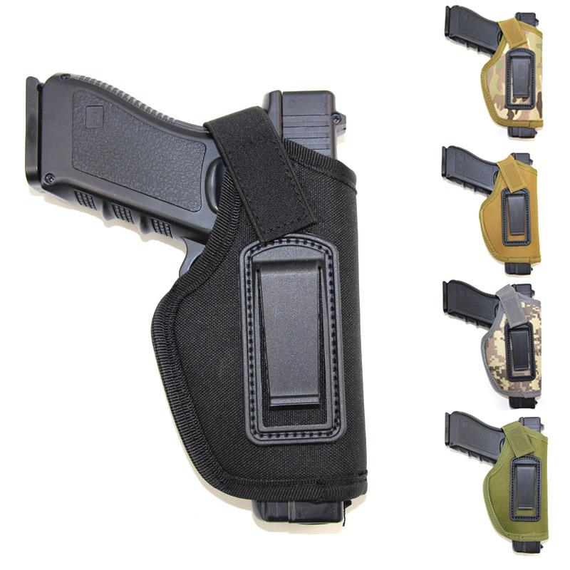Tactical Gun Holster For Glock 17 19 Colt 1911 Beretta M9 Taurus Makalov Airsoft Pistol Holster Waist Concealed Carry Gun Case
