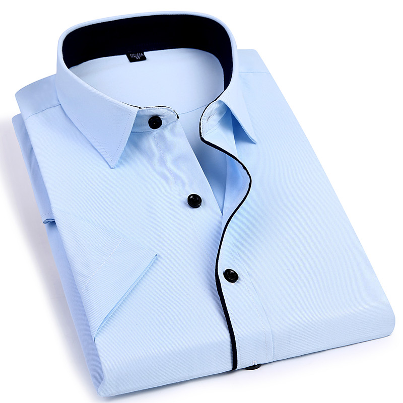 2019 NEW Casual Men's Short Sleeve Shirt Slim Fit Design Style Male Social Business Dress Shirts High Quality Clothing 4XL