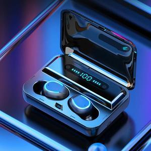Image 5 - F9 5 TWS auriculares intrauditivos estéreo, inalámbricos por Bluetooth 5,0, Auriculares deportivos tipo U con estuche de carga y pantalla Digital