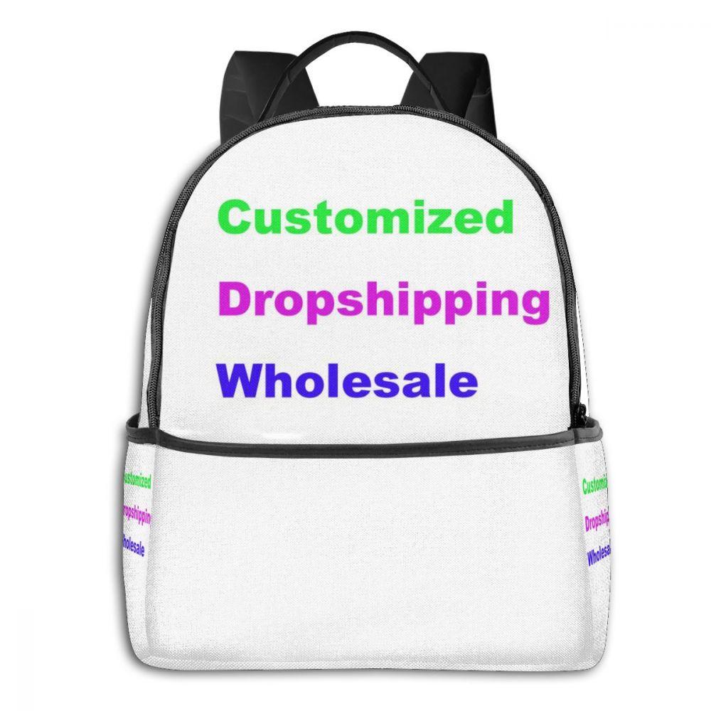Бесшумный дизайн рюкзак под заказ для женщин и мужчин Детские сумки модные мультфильм животных Семья печать изображений оптовая продажа