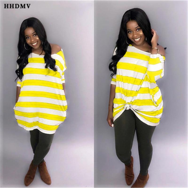 HHDMV DAN8185 casual languid is lazy style dresses long sleeve card shoulder loose striped dresses 4 color knee-length dresses