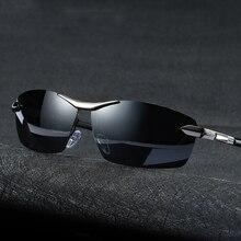 العلامة التجارية تصميم الأزياء النظارات الشمسية الرجال الاستقطاب الطيار الحرباء Photochromism مكافحة وهج نظارات يوم ليلة القيادة الذكور النظارات الشمسية