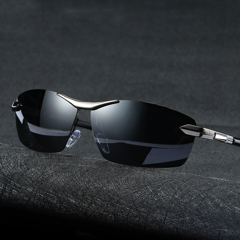 Brand Design Fashion Sunglasses Men Polarized Pilot Chameleon Photochromism Anti Glare Glasses Day Night Driving Male Sunglasses Pakistan