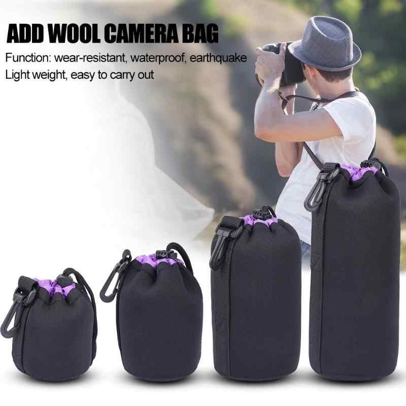 3 สีกระเป๋ากล้องกระเป๋ากันน้ำ Neoprene Soft วิดีโอกล้องเลนส์กระเป๋าขนาด S M L XL กล้องเลนส์ Protector