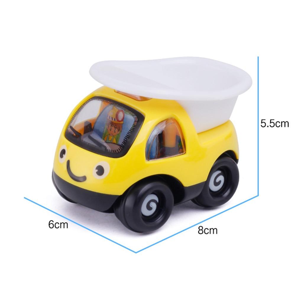 Купить с кэшбэком Kids Car Model Toys Cartoon Excavator Engineering Vehicle Car Pull Back Model Educational Toys For Kids