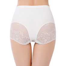 Sexy Lace Panties Women Comfortable Nylon Briefs Ladies Lingerie Intimates High Rise Large Size Seamless Underwear