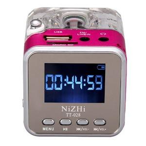 Image 4 - Mới Loa Mini Di Động Âm Nhạc Kỹ Thuật Số MP3/4 Cầu Thủ Micro SD/TF Đĩa USB Loa Đài FM LCD 20
