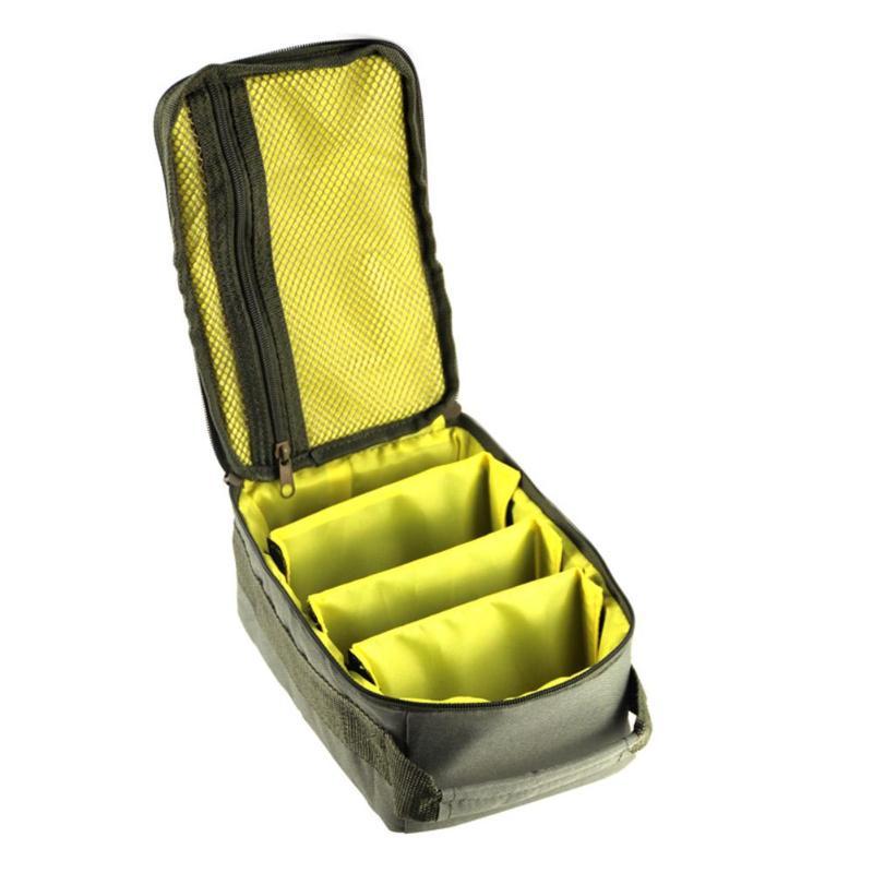 Fishing Bag Portable Multiple Compartments Fishing Line Reel Lure Hook Storage Handbag Polyester Fishing Storage Bags 2019