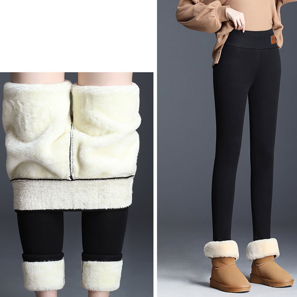 The New Women's Winter Wearing Leggings Super-thick High Stretch Wear Lamb Cashmere Trousers High Waist Warm Hip Lifting