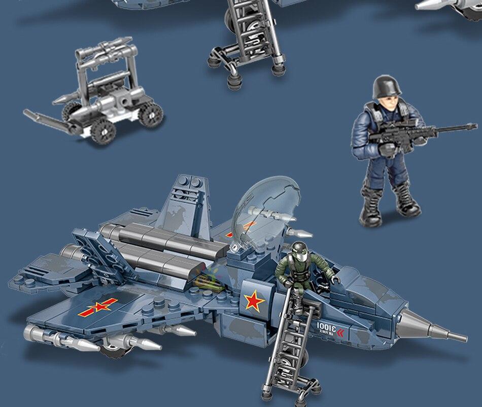 """конструктор huiqibao """"армейский истребитель-стелс"""""""