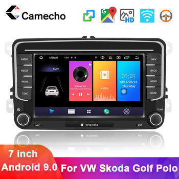 Camecho Android 9.0 Car Radio 7'' HD GPS Navigation Multimedia Player For VW Passat Golf MK5 MK6 Jetta T5 EOS POLO Touran Sharan image