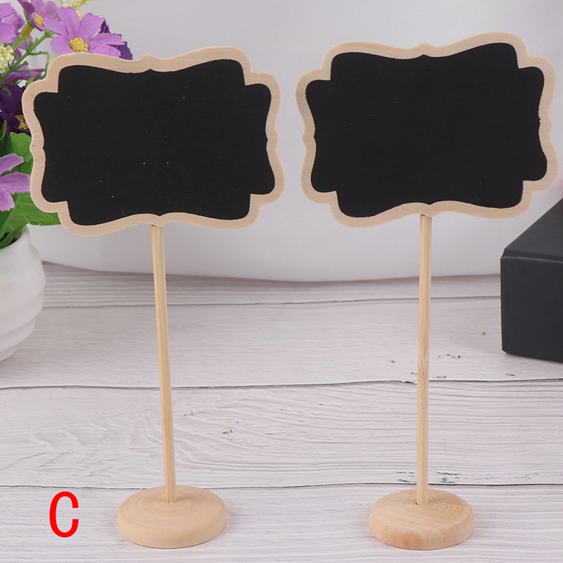 Mini Small Wooden Chalk Blackboard Wedding Kitchen Restaurant Signs Chalkboard Writing Notice Message Paint Wood Board C Style