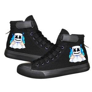 Marshmallow najnowszy tenisówki kobiety mężczyźni trampki Cosplay buty w stylu casual nastolatków chłopcy i dziewczęta buty sportowe czarny/biały kolor