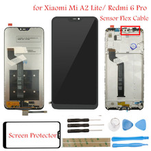 Lcd Display Voor Xiao Mi Mi A2 Lite/Rood Mi 6 Pro Lcd scherm Touch + Frame Assembly lcd Touch Screen Reparatie Onderdelen